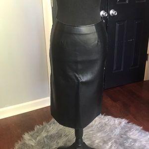 J.O.A. Black pleather pencil skirt